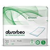 Absorbeo - Bettschutzunterlagen Plus – Bettschutz, 60 x 90 cm (30 Einlagen pro Packung)