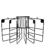 BR Deckenhalter für 6 Decken schwarz Metall drehbare Bügel Wandhalter