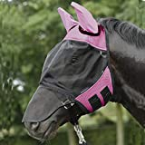 BUSSE Fliegenmaske FLY COVER PRO, Pony, pink/schwarz