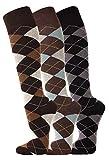 TippTexx24 3 Paar oder 6 Paar Ökotex Reiter Kniestrümpfe, Reitstrümpfe in modischen Karo Mustern und zusätzlicher Garantie