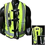 Chnzyr Motorrad-Airbag Weste Reflektierende Airbag Gilet Weste Radfahren Schutzweste Abriebfeste Reiß Sicherheit Geeignet für Erwachsene Männer und Frauen,M