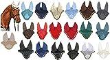 HKM 3387 Fliegenhaube, Insektenschutz Fliegenschutz Ohrenschutz, Dunkelblau/Dunkelblau, Vollblut