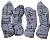 4er Set Transportgamaschen Gr. WB, travel boots, extrem reissfest aus 1200D Ripstop Obermaterial und dicker Schaumstofffüllung, Fleeceinlay, wasserdicht & atmungsaktiv
