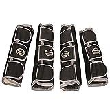 Weatherbeeta Transportgamaschen mit breiten Laschen, lang (Cob) (Schwarz/Silber)