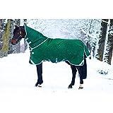 Horseware Rambo Original mit Leg Arches Pferdedecke 130cm ohne Füllung Green/Silver
