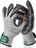 DR Zoo Gr. M Paar Fellpflegehandschuh zur Fellpflege durch Handschuh für Hund, Katze und Pferde