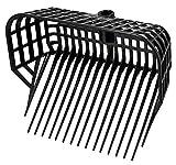 Kerbl Mistgabel ohne Stiel (Bollengabel mit großem Füllvolumen, 17 Zinken, unzerbrechlicher Kunststoff, Spänegabel schwarz, Maße 38x30 cm) 326056