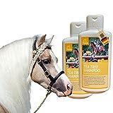 EMMA® SPARSET Pferdeshampoo Shampoo für Pferde & Hunde mit Teebaum-Öl ph-neutral & mild I bei empfindlicher Haut I Ekzem 2 mal 500ml