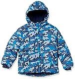 Amazon Essentials Jungen Heavy-weight Hooded Puffer Jackets Coats, Blau Camo, S