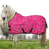 York Ponydecke Regendecke für Pony Horsi pink Koppeldecke Weidedecke Winterdecke (135 cm)