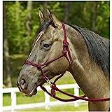 WILDHORN Knotenhalfter RINGE, Pony/Vollblut, bordeaux