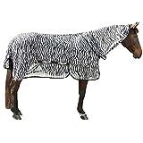 Kerbl RugBe Zebra Fliegendecke Ekzemerdecke Pferdedecke mit Halsteil 145 cm