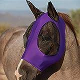 Hobein Pferdefliegenmaske, Fliegenmaske mit Ohren, Extra Comfort Horse Fly Mask Grip Soft Mesh Pferde Fliegenmaske mit Ohren (Violett)