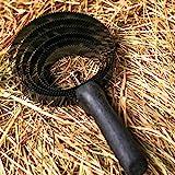 Federstriegel 6 lagig für Pferde – Metallstriegel für Reinigung grober Schmutz– Spiralstriegel ideal für Fellwechsel, Haarentfernung (Federstriegel)