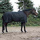 jw reitsport Regendecke mit Fleeceinnenfutter schwarz 125 cm