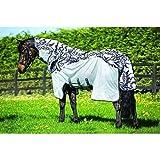 Horseware regengeeignete Fliegendecke Amigo Three-In-One Vamoose Silver/Black (Printed) 100-165 (100)