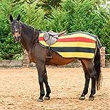 Best On Horse Nierendecke–gestreift, Fleece, Pferd, Ausreitdecke, Klettverschluss, Newmarket, S